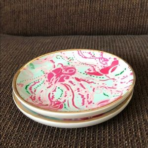 Lilly Pulitzer Jellyfish Coasters/Catchall (2)